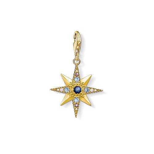Thomas Sabo Damen-Charm-Anhänger Royalty Stern Charm Club 925 Sterling Silber vergoldet 1714-959-7