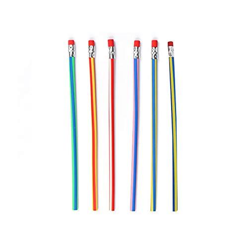 Yeshai3369 Bleistifte mit Radiergummi auf der Oberseite, bunt, 6 Stück multi