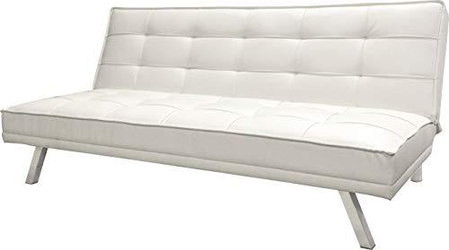 Piolo Schlafsofa 2-Sitzer (ausklappbares Sofa, Klappcouch, Maße BxTxH: 179x91x38 cm) Kunstleder Beige
