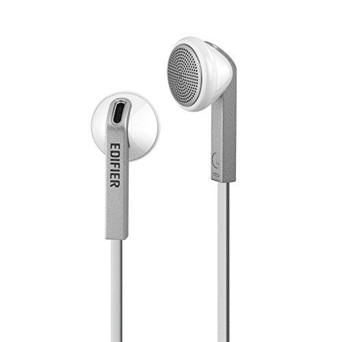 Edifier H190 Premium Earbuds Klassisches Design Earbud Kopfhörer Ohrhörer Mit verhedderfreiem Kabel Ohne Mikro Weiß (Amazon Fire Handy Ohrhörer)