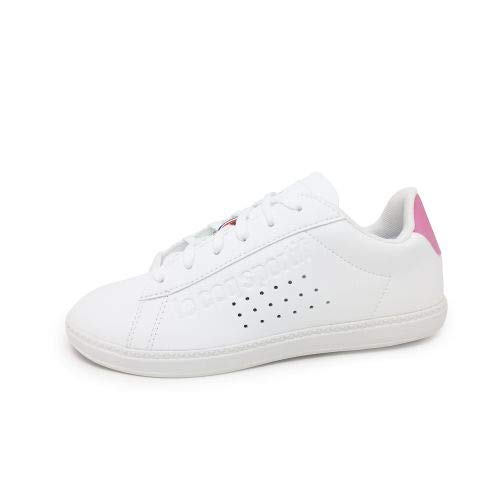 Le Coq Sportif Courtset Bianco/Rosa 1910155 Sneakers per Donna, 37