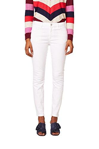 edc by ESPRIT Damen Skinny Jeans 028CC1B012, Weiß (White 100), 28/30