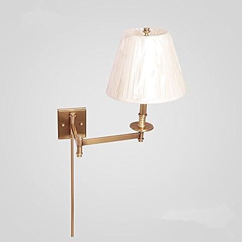 FEI&S lampada specchietto retrovisore regolabile lampada frontale moderna luce di rame lampada da parete #5F