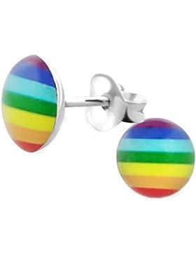 SL-Silver Ohrringe Kinderohrringe Regenbogen 925 Silber