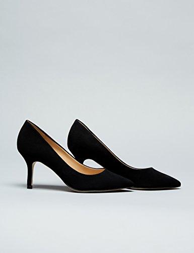 FIND Escarpins Fermés Femme Noir (Black)
