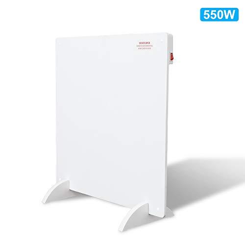 VINGO 550 Watt Infrarotheizung weiß Heizpaneel mit Überhitzungsschutz Infrarot-Elektroheizung mit Stecker für Steckdose