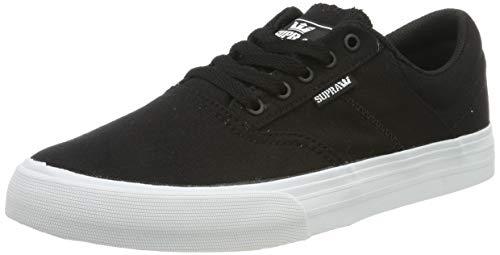 Supra Cobalt, Zapatillas de Skateboard Unisex Adulto, Negro Black-White-M 2, 41 EU
