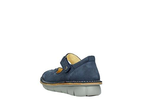 Wolky Comfort Chaussures à bride Cordoba 10820 nubuck bleu denim