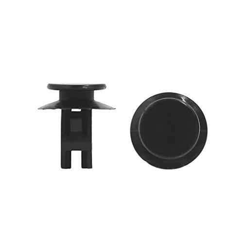 sourcingmap® 40pcs 8mm x 6.5mm auto voiture Trou rivet en plastique noir pousser clip retenue porte