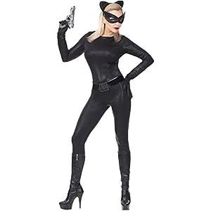 WIDMANN Disfraz de Catwoman Negro para Mujer XS