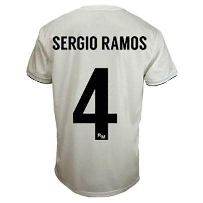 Real Madrid C.F. Camiseta 1ºEQUIPO Sergio Ramos Real Madrid 2018-2019  Adulto (M) 653db1cc79b38