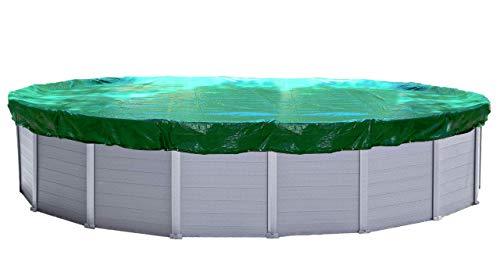 Quick-Star Abdeckplane Pool Oval 625 x 360 cm Winterabdeckplane Poolabdeckung 180g/m²