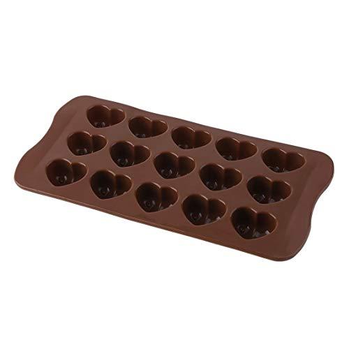 ForceSthrength Silikon-Eiswürfel-Schokoladen-Kuchen-Gelee-Behälter-Wanne-Herz-Hersteller-Form-Form