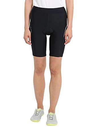 Ultrasport Damen Fahrradhose mit vorgeformter Polsterung, Schwarz, XS, 10206-FP