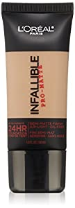 L'Oreal Paris Cosmetics Infallible Pro-Matte Foundation Makeup - Golden Beige