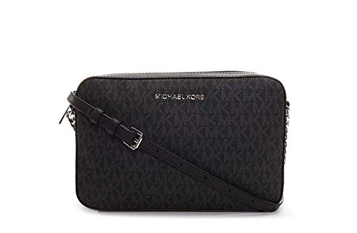 Michael Kors Jet Set Gr. L East West Crossbody, Schwarz (Black Pvc 2018), Einheitsgröße