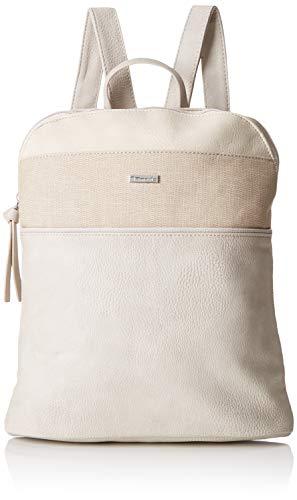 Tamaris Damen Khema Backpack Rucksackhandtasche, Beige (Pepper Comb) 8.5x31x27 cm