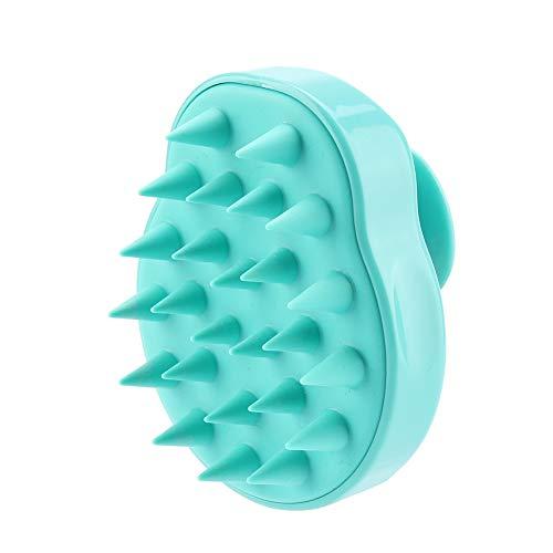 Massagebürste Weiche Silikonkamm Körper Kopfhautpflege Kopf Haarreinigung Dusche Männer Frauen Kinder Haustiere(01)