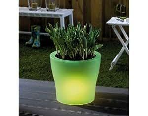 Trendy Vert - Pot de fleur à éclairage LED