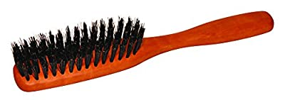 Natural hairbrush special with pure wild boar bristles and pear tree - wood in narrow form, combing brush for classic natural hair for men, women and children. Dimensions approx. 215 x 32 mm