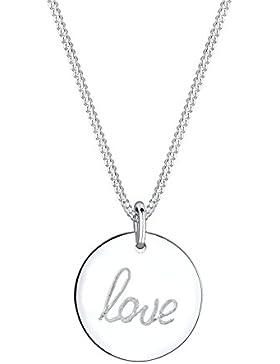 Elli Damen Halskette Anhänger Love Schriftzug 925 Sterling silber