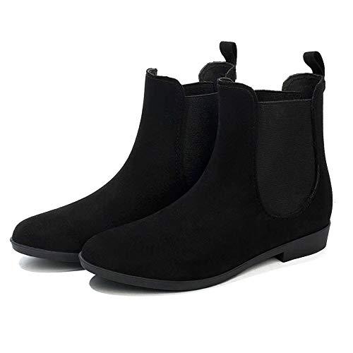 lsea-Stiefel Schnee Regen Stiefel hohe Knöchel Wildleder Gummistiefel Shorty Regen Stiefel Mode Kurze Regen Stiefel für Frauen ()