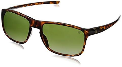 Tag Heuer 27 Degree 6042 310 6042310 Polarized Wayfarer Sunglasses, Shiny Tortoise,Gold & Green Gradient Precision, 59 mm
