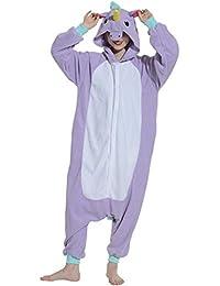 Unisex Animal Pijama Ropa de Dormir Cosplay Kigurumi Onesie Unicornio Disfraz para Adulto Entre 1,