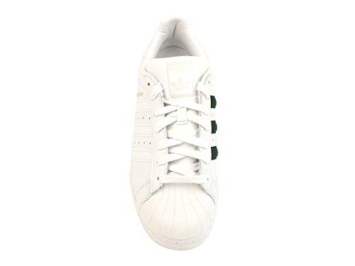 adidas Superstar, Baskets Homme Blanc (Crystal White/collegiate Green/core Black 0)