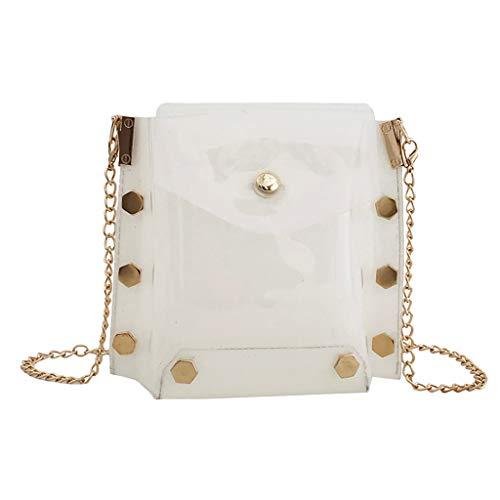 Damen Handbag Schulter Mode Mini Tasche Damenmode Wild Diagonal Cross Bag Transparente Schultertasche Jelly Bag Messenger Bag Kette Paket -
