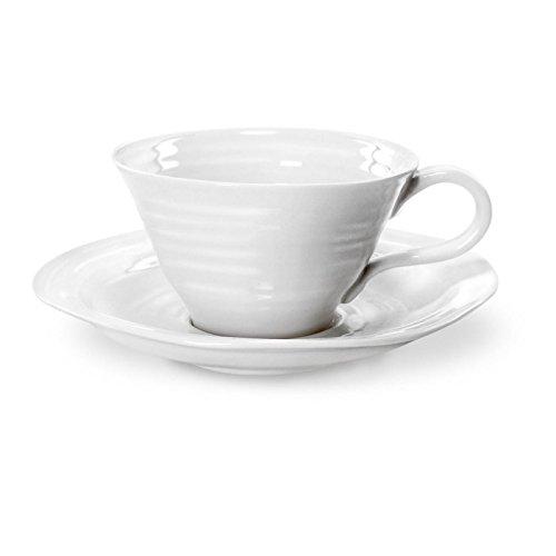 Sophie Conran Portmeirion weiß Tee Tasse & Untertasse?Set von 4 Conran White