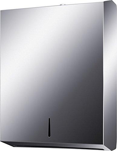 28333 Modern Design Papierspender Handtuchspender Papierhandtuchspender Edelstahl 18/8 (SUS304) matt Spender, abschließbar