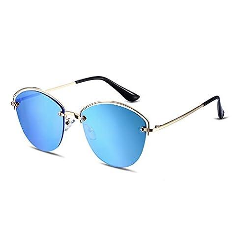 HMILYDYK Polarized Inspired Classic Wayfer Sunglasses Unbreakable Half Frame Semi-Rimless Rimmed Eyewear for Women