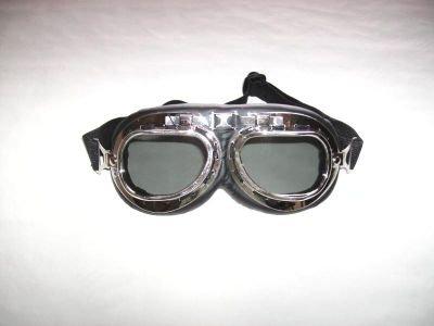 Gafas para motero - Tipo gafas de piloto - Lentes de plástico oscurecido