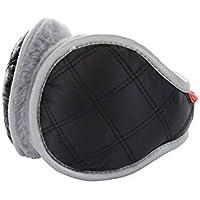 XDXDWEWERT Las Orejeras de Moda Impermeable a Prueba de Agua Orejeras Calentadores de oído térmicos de Invierno para Adultos Hombres (Gris) (Color : Black, tamaño : 14cm)