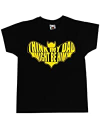 Grindstore Kids I Think My Dad Might Be him T-Shirt Black