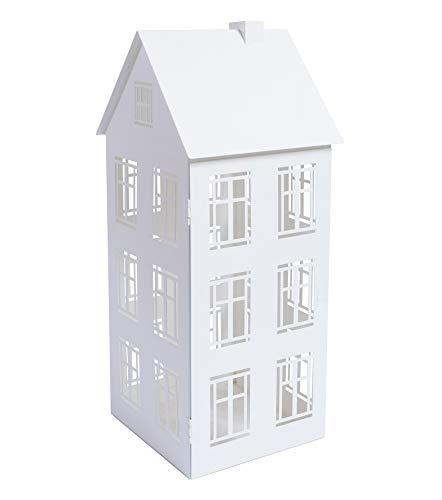 Home&Decorations Lanterne Décorative en Métal - Lanterne de Maison pour Intérieur ou Extérieur - Résistant - Blanc 20,7 x 19,5 x 47,5 cm