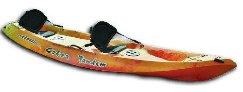 Cobra Tandem 2Personen Sit On Top Kajak, rot / gelb