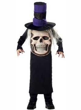 Totenkopf Mad Hatter Halloween Kostüm Karneval Fasching Verkleidung Kinder Medium