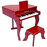 Delson 3005R Piano à queue pour enfant Rouge