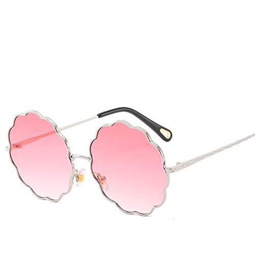 Liuao Frauen & Männer Floral Linsen Rahmen Sonnenbrillen Runde Blume Rosa Rahmen Sonnenbrille Dekoration Brillen Weiblich,Style 3