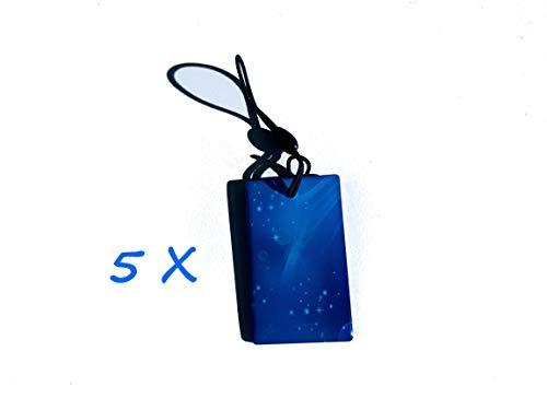 NFC_Karte Tags (5 Stück) für 3 in 1 Smart Schloss Smart lock schlüssellose Zutrittskontrolle NFC_Karte + Pin+ APP aus hochwertigem Edelstahl silber matt