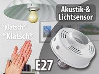 Lunartec Universal-Lampenfassung mit Akustik- und Lichtsensor, E27 von Lunartec bei Lampenhans.de