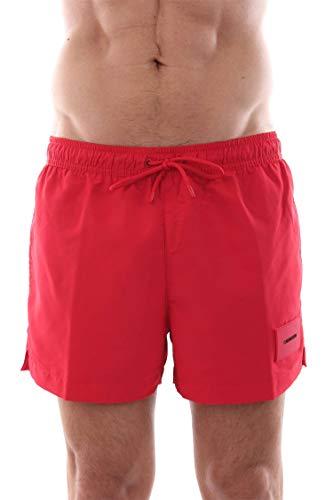 Herren Kostüm Designer - Calvin Klein KM0KM00277 Short Drawstring Kostüm Meer und Pool Herren RED M