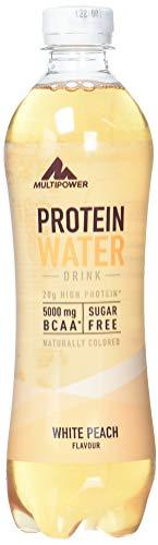 Multipower Protein Water Drink, White Peach, 12er Pack (12 x 500 ml)