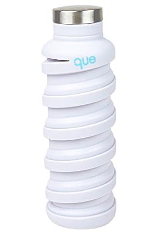 klappbar Wasser Flasche–BPA frei, auslaufsicher, leicht Klauenhammer, Eco–Freundlicher wiederverwendbar Silikon Reisen Sport Camping Wasser Flasche Que Flasche, unisex Jungen Mädchen damen Herren, Gletscherweiß