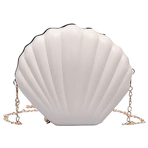 RETYLY Neue Mode UmhäNgetasche SüßE Muschel Kette UmhäNgetasche Hand Tasche MäDchen UmhäNgetasche Hand Tasche