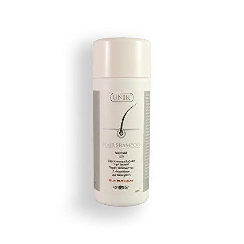 Unik Hair Shampoo Höchste Qualität 100{c89934e0e3527b1d7b3d519ef930e9c22b78e49c95583c3ff6be82c8ec98ac89} natürliche / pflanzliche 125ml (Made in Germany) Anti-Haarausfall, Schuppen, Juckreiz, Fett, lebloses Haar, trockenes Haar, strapaziertes Haar, silikonfrei