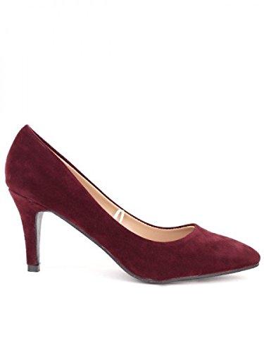 Cendriyon, Escarpin daim bordeau NIANO Chaussures Femme Bordeaux
