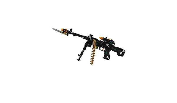 TD-2018 Kids Toy Military Assault Rifle Gun with Flashing Lights Sound Vibration